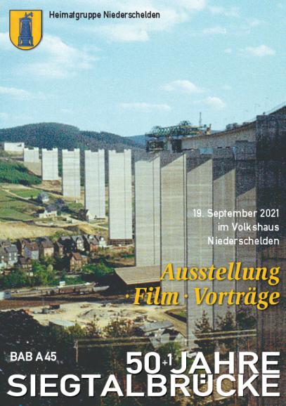 """Titelblatt der Broschüre """"50+1 Jahre Siegtalbrücke - BAB A45"""""""