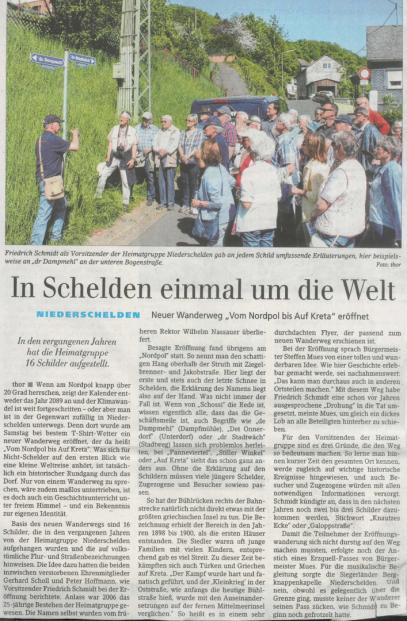 Artikel aus der Siegener Zeitung vom 8. Mai 2018